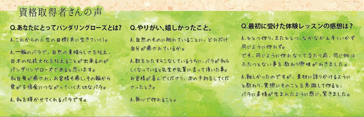 川西市・パンダリングローズ・ラボ・チラシ・デザイン